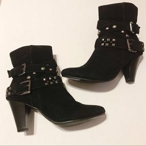 Duffy studded buckle ankle boots